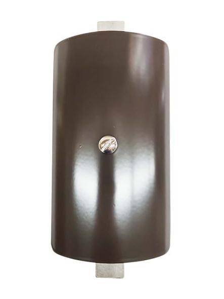 "3.5""x5.5"" Curved Rectangular Dark Bronze Steel Hand Hole Cover - 4"" Diameter Pole"