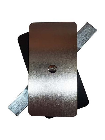 """2.5""""x5"""" Flat Rectangular Unfinished Steel Hand Hole Cover (Bare Metal - Requires Painting)"""