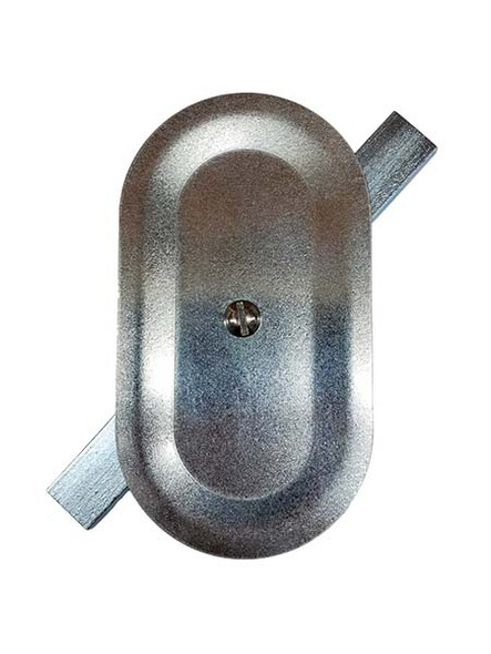 """3""""x5.5"""" Stamped Oval Galvanized Steel Hand Hole Cover"""