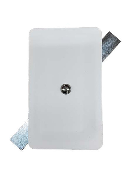 """3""""x5"""" Stamped Rectangular White Steel Hand Hole Cover"""