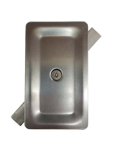 """3""""x5"""" Tamper Resistant Stamped Rectangular Unfinished Steel Hand Hole Cover (Bare Metal - Requires Painting)"""