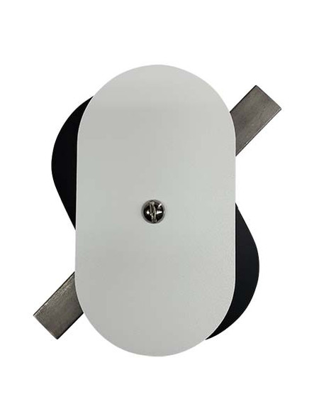 """3""""x5.5"""" Flat Oval White Steel Hand Hole Cover"""
