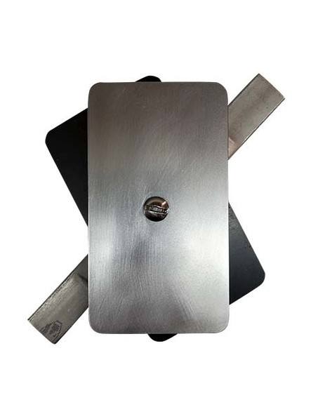 """2.5""""x4.5"""" Flat Rectangular Unfinished Steel Hand Hole Cover (Bare Metal - Requires Painting)"""