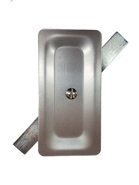 """2.5""""x5"""" Stamped Rectangular Unfinished Steel Hand Hole Cover (Bare Metal - Requires Painting)"""