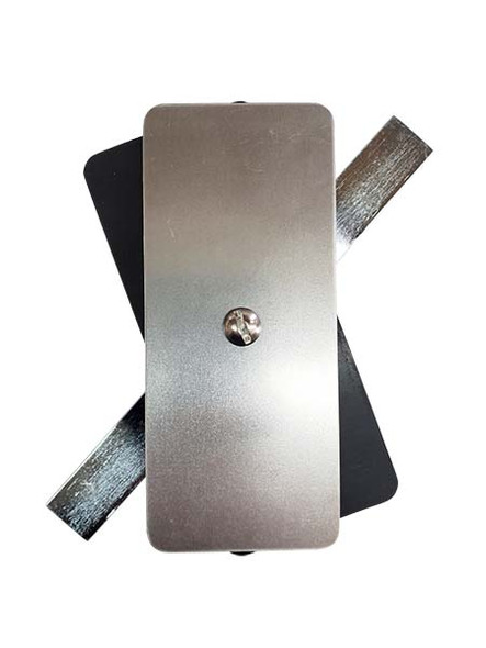 """2.25""""x5.25"""" Flat Rectangular Unfinished Steel Hand Hole Cover (Bare Metal - Requires Painting)"""