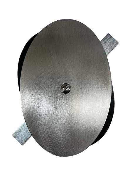 """4""""x6"""" Flat Elliptical Unfinished Steel Hand Hole Cover (Bare Metal - Requires Painting)"""