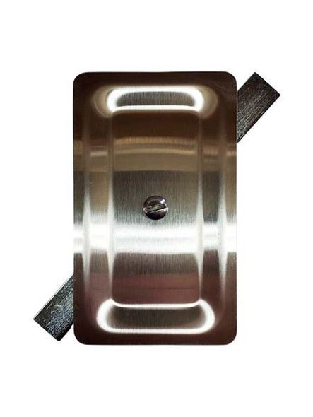 """3""""x5"""" Stamped Rectangular Unfinished Stainless Steel Hand Hole Cover"""
