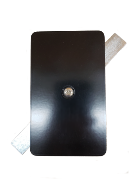 """3""""x5"""" Tamper Resistant Rectangular Black Steel Hand Hole Cover - Bronze 3/16"""" Thick"""