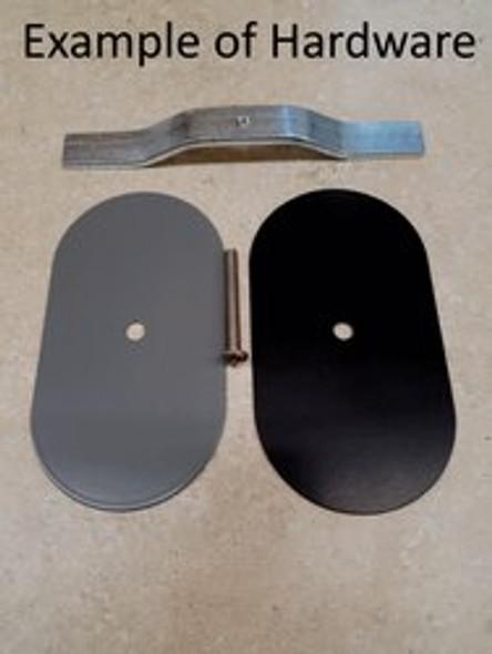 "2.5""x5"" Flat Rectangular White Steel Hand Hole Cover"