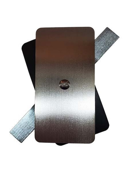 """2.5""""x5"""" Flat Rectangular Unfinished 3/16"""" Steel Hand Hole Cover (Bare Metal - Requires Painting)"""