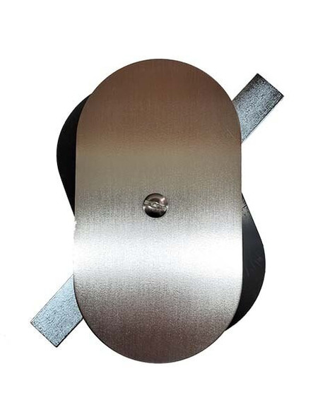 """3""""x5.5"""" Flat Oval Unfinished 3/16"""" Steel Hand Hole Cover (Bare Metal - Requires Painting)"""