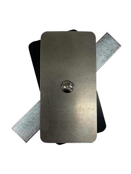 """2""""x4"""" Flat Rectangular Unfinished Steel Hand Hole Cover (Bare Metal - Requires Painting)"""
