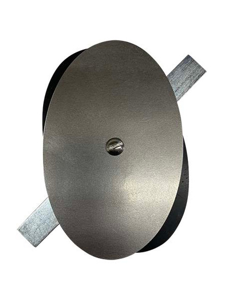 """3.5""""x5.5"""" Flat Elliptical Unfinished Steel Hand Hole Cover (Bare Metal - Requires Painting)"""