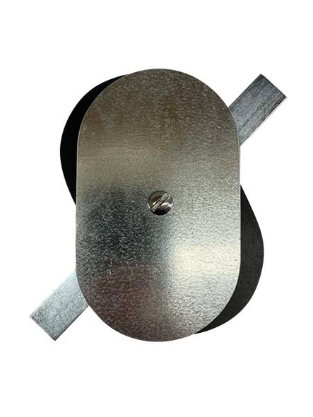 """3""""x5"""" Flat Oval Galvanized Steel Hand Hole Cover"""