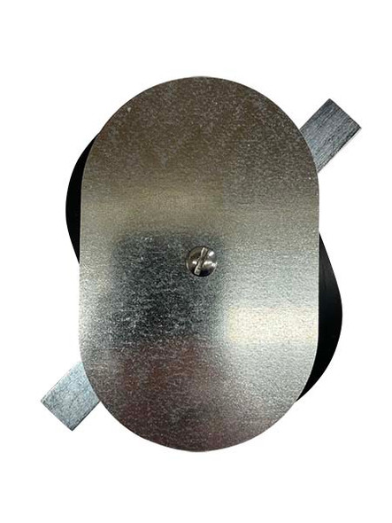 """3.5""""x5.5"""" Flat Oval Galvanized Steel Hand Hole Cover"""