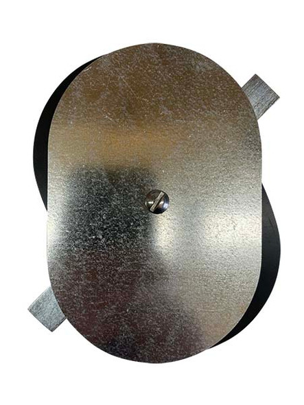 """4""""x6"""" Flat Oval Galvanized Steel Hand Hole Cover"""