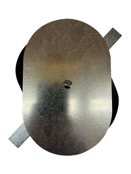 """4.5""""x7"""" Flat Oval Galvanized Steel Hand Hole Cover"""
