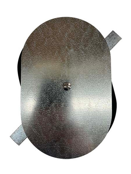 """4.75""""x7.5"""" Flat Oval Galvanized Steel Hand Hole Cover"""