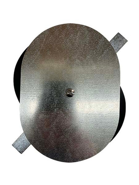 """5""""x7"""" Flat Oval Galvanized Steel Hand Hole Cover"""