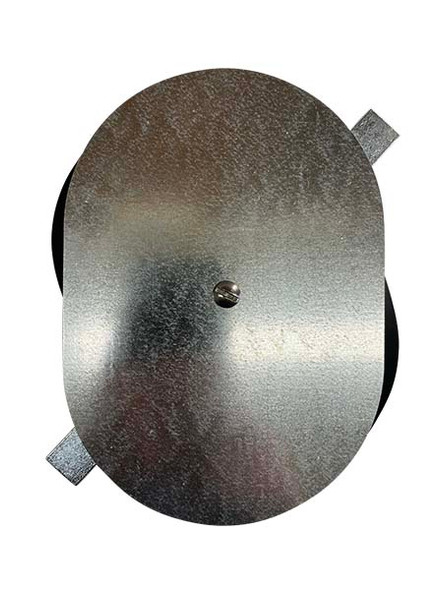 """5.25""""x7.5"""" Flat Oval Galvanized Steel Hand Hole Cover"""