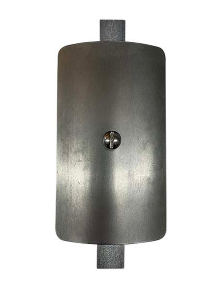 """3""""x5"""" Curved Rectangular Unfinished Steel Hand Hole Cover - 5.5"""" Diameter Pole (Bare Metal - Requires Painting)"""