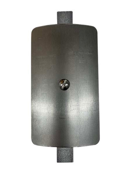"""3""""x5"""" Curved Rectangular Unfinished Steel Hand Hole Cover - 6"""" Diameter Pole (Bare Metal - Requires Painting)"""