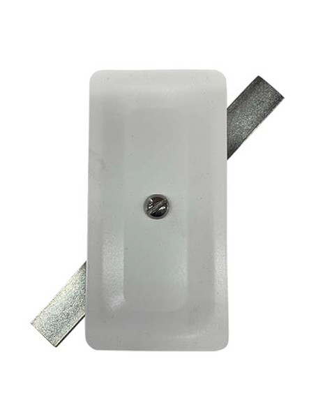 """2.5""""x5"""" Stamped Rectangular White Steel Hand Hole Cover"""