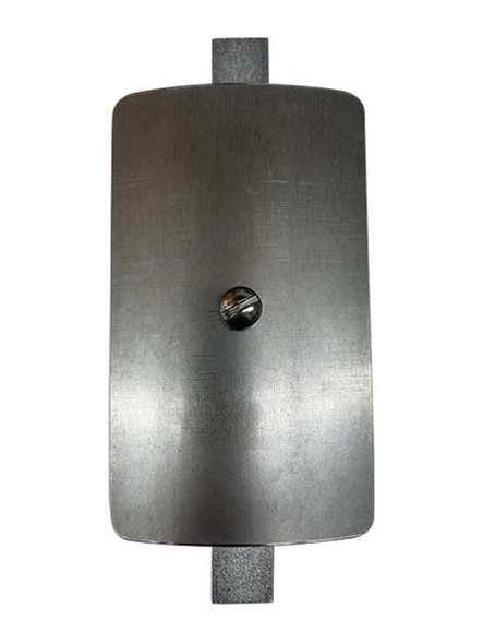 """3""""x5"""" Curved Rectangular Unfinished Steel Hand Hole Cover - 8"""" Diameter Pole (Bare Metal - Requires Painting)"""