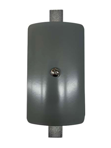 """3""""x5"""" Curved Rectangular Grey Steel Hand Hole Cover - 5.5"""" Diameter Pole"""