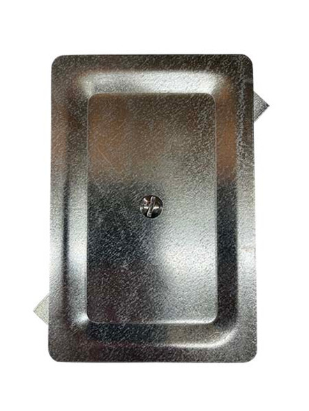 """4""""x6"""" Stamped Rectangular Galvanized Steel Hand Hole Cover"""