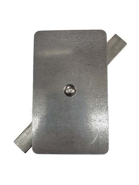 """3""""x5"""" Tamper Proof Rectangular Unfinished Steel  Hand Hole Cover - 1/4-20 Screw (Bare Metal - Requires Painting)"""