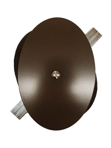 "4""x6"" Flat Elliptical Dark Bronze Steel Hand Hole Cover"