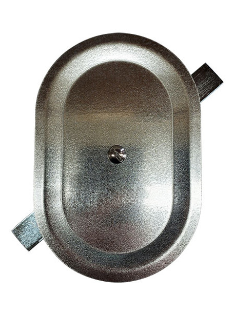 """4""""x6"""" Stamped Oval Galvanized Steel Hand Hole Cover"""