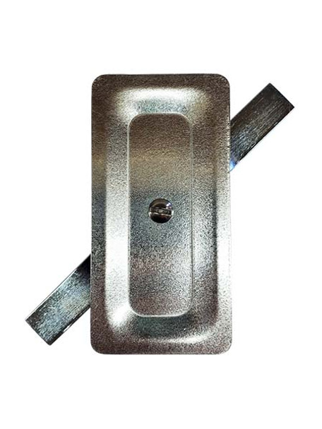 """2.5""""x5"""" Stamped Rectangular Galvanized Steel Hand Hole Cover"""