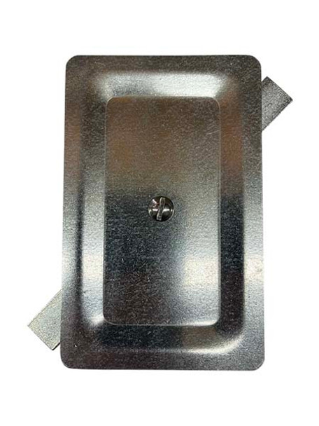 """3.5""""x5.5"""" Stamped Rectangular Galvanized Steel Hand Hole Cover"""