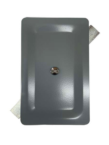 """3.5""""x5.5"""" Stamped Rectangular Grey Steel Hand Hole Cover"""