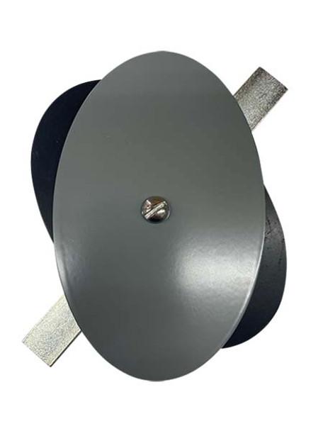 "3.5""x5.5"" Flat Elliptical Grey Steel Hand Hole Cover"