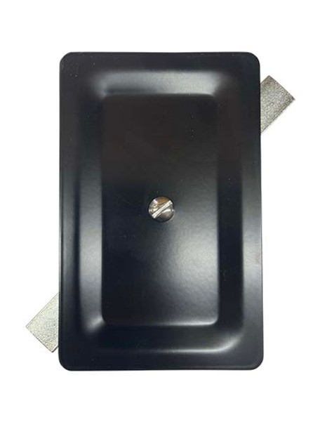 """3.5""""x5.5"""" Stamped Rectangular Black Steel Hand Hole Cover"""