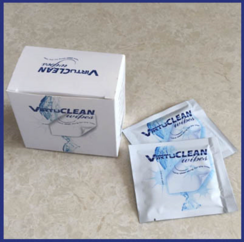 VirtuClean Travel CPAP Mask Wipes - Box of 10 Count