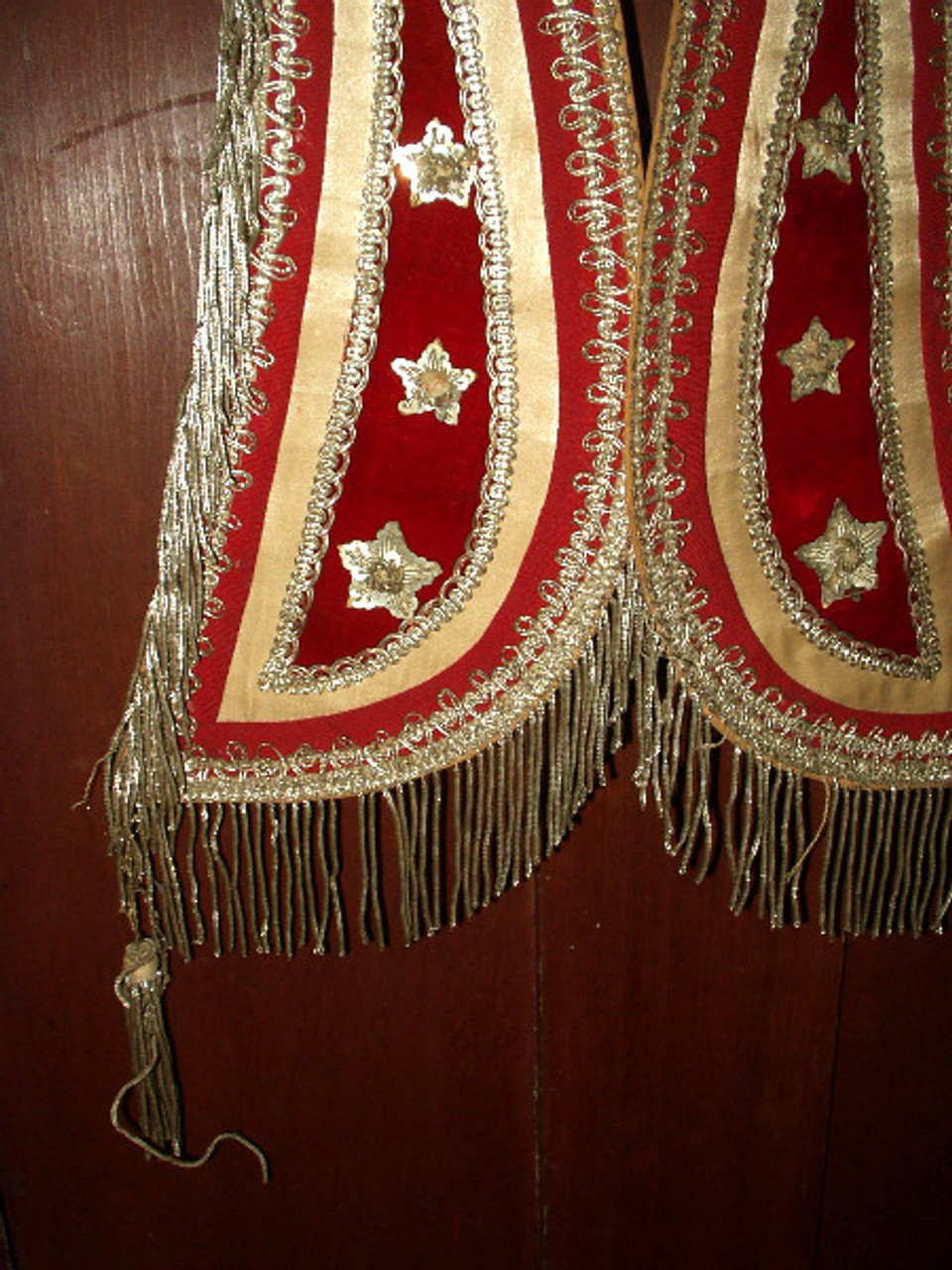 1880 1900 Victorian Fraternal Odd Fellow, Freemason, Templar Regalia Collar Banner Lot of 9