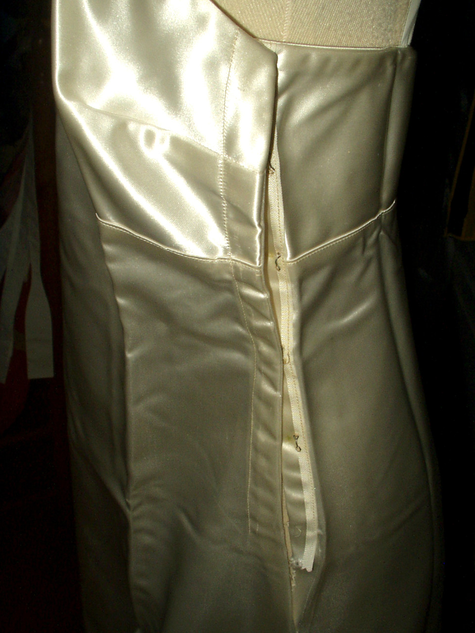 1940 Vintage Alencon Lace Wedding Dress Bridal Gown Satin Slip Undergarment