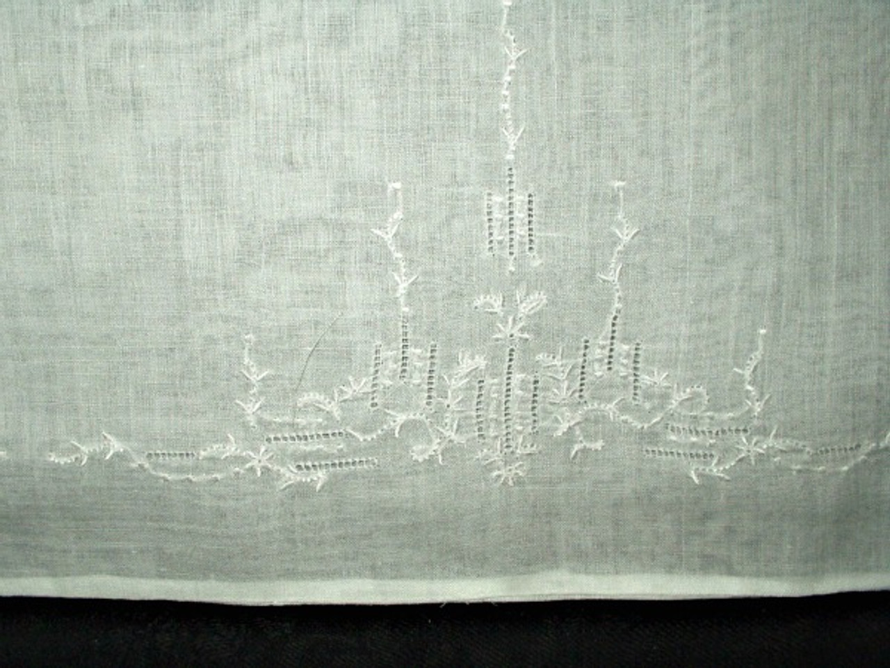 1920 1930 Batiste Embroidery Baby Boudior Pillowcase