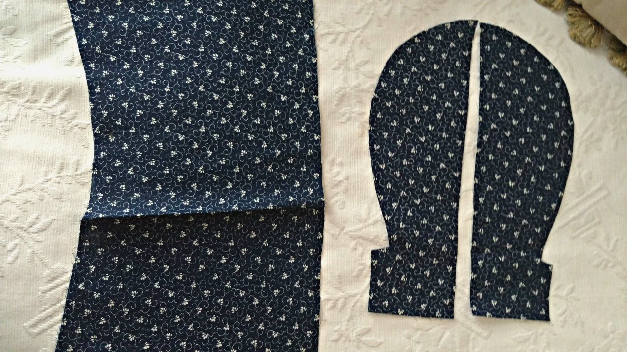 Early 1900s Blue Calico Fabric Pieces Quilting Sewing Crafts