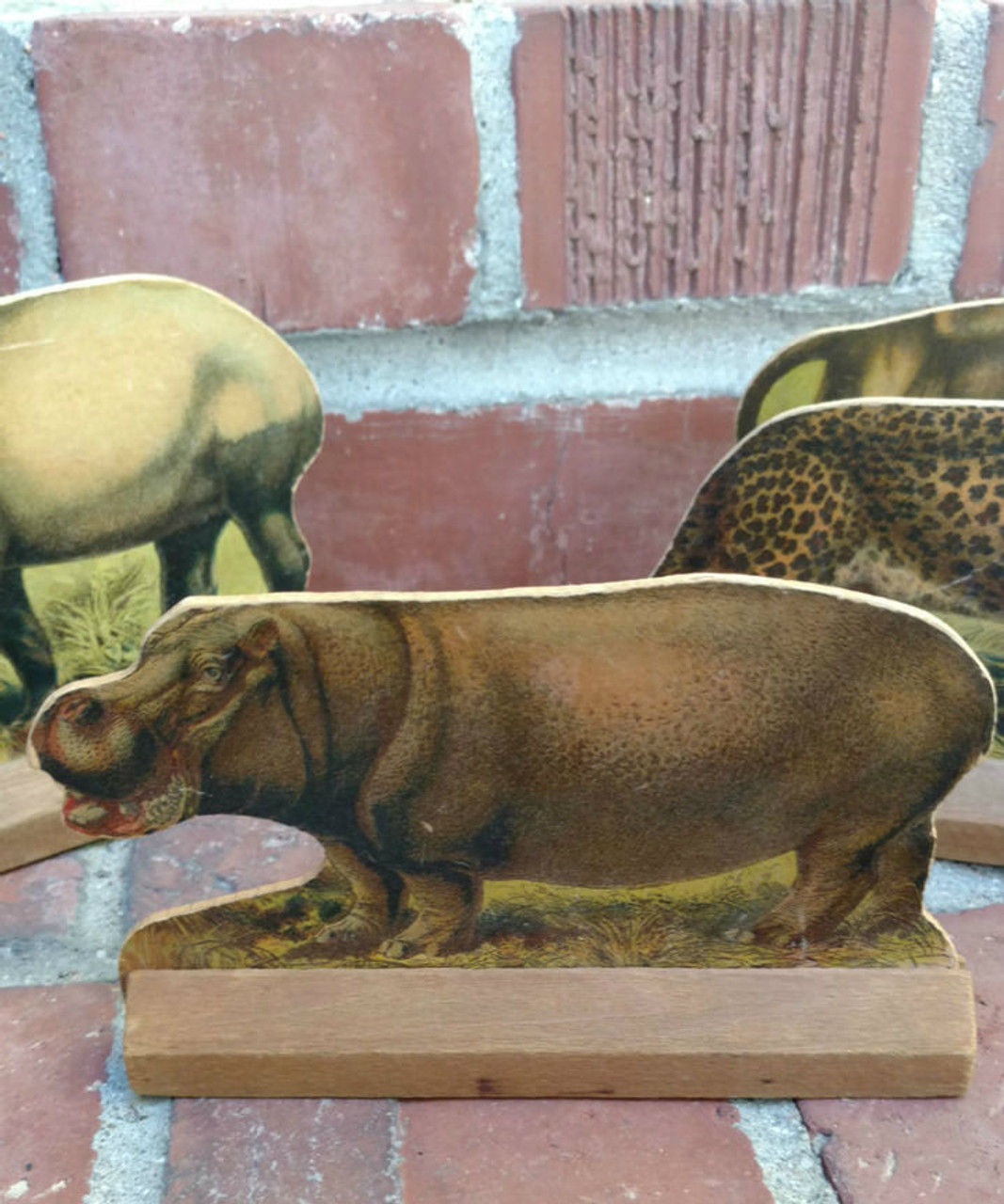 Victorian Lithograph 9 Animals Children Game Toy Shooting Gallery