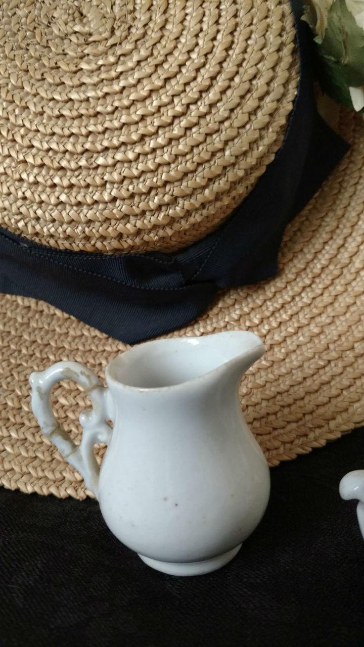 3 Piece Toy Ironstone White Creamer Sugar Teapot  Victorian Play Set
