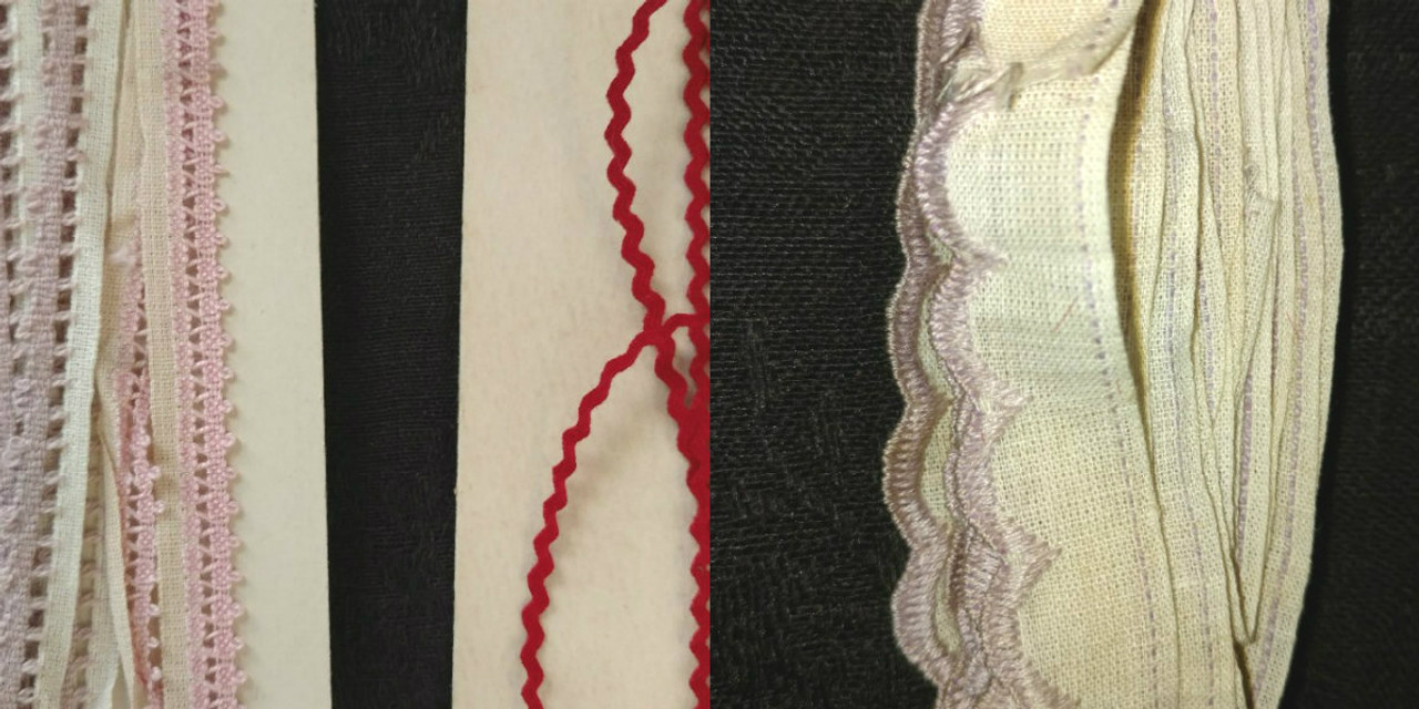 4 Vintage 1920s Novelty Trim Edging Yardage Sewing Dolls Crafts