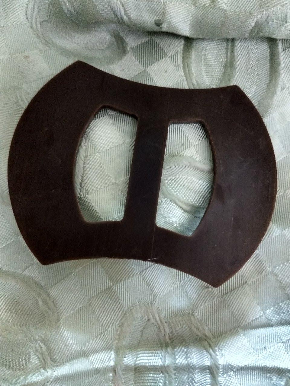 Brown Buckle Dress Slide Vintage 1930s 1940s Belt Accent