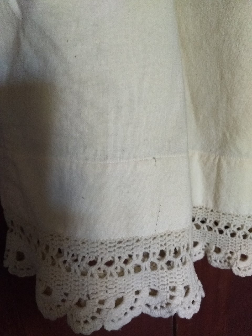Girl Wool Petticoat Slip Crochet Trim Victorian Edwardian Vintage