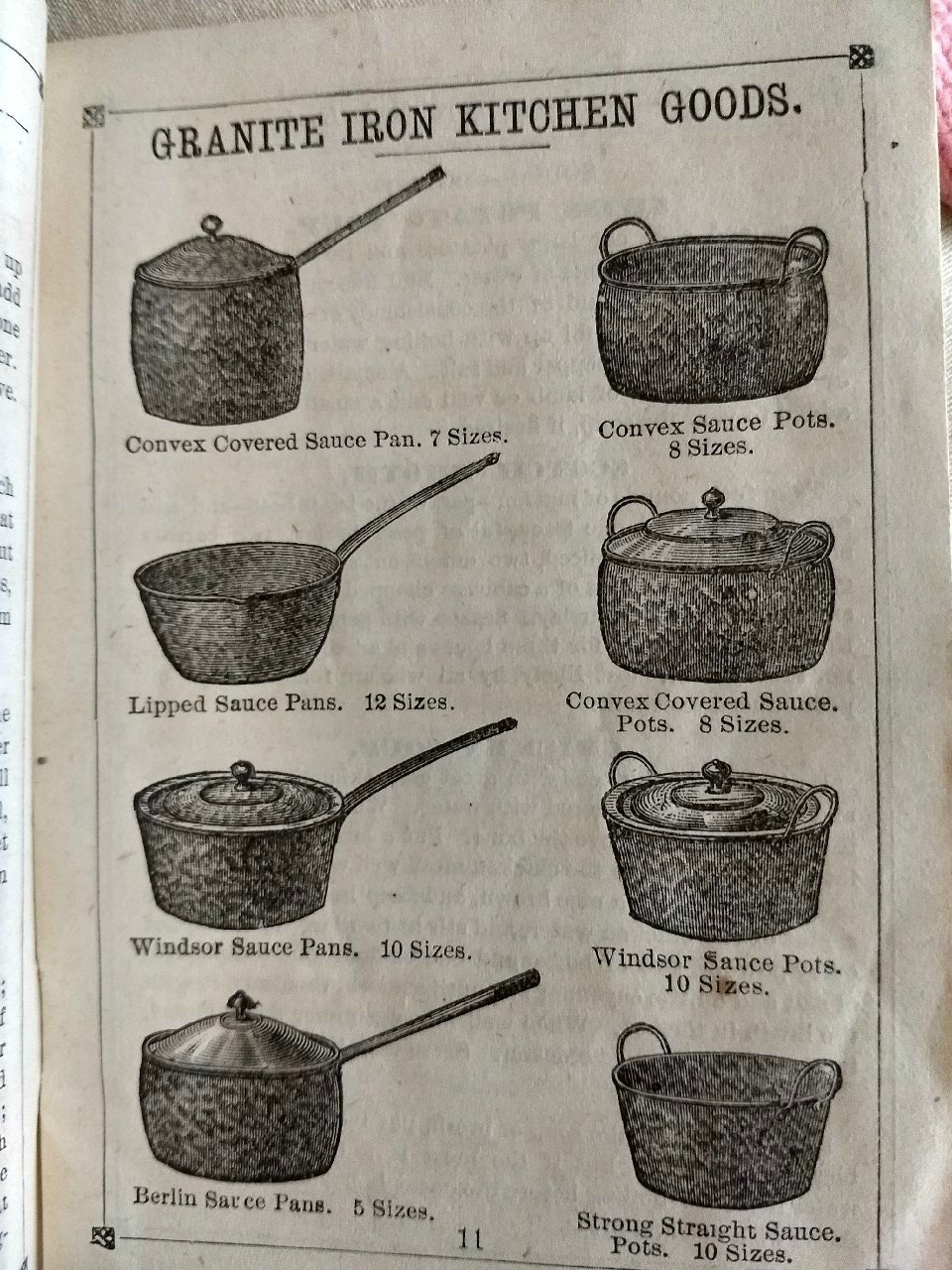 1870s  St. Louis Stamping Granite Iron Ware Cook Recipes Granite Buffalo New York