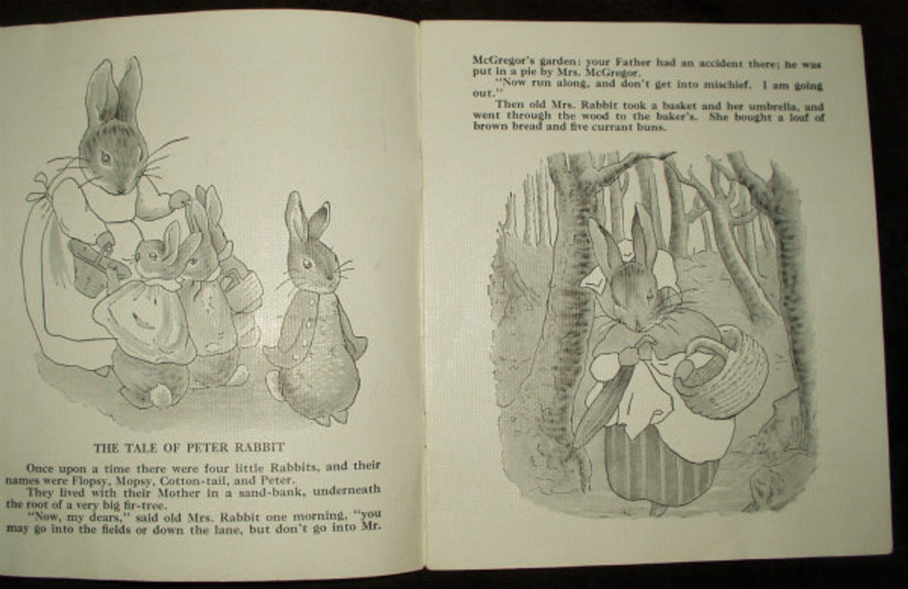 Vintage 1940's Platt Munk Peter Rabbit  Children Storybook